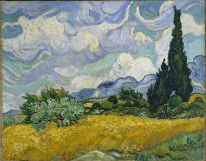 Champ avec Cyprès de Van Gogh - Source Wikipédia